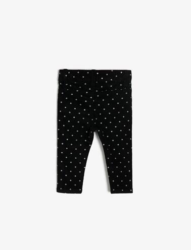 Koton Kids Baskılı Pantolon Siyah
